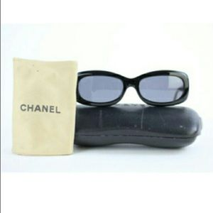 Authentic Chanel 5094 Black quilted sunglasses